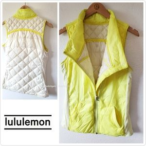 Lululemon Clarity Yellow What The Fluff Vest 6